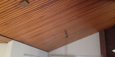 Spuiten Houten Plafond Voor Nogmaals