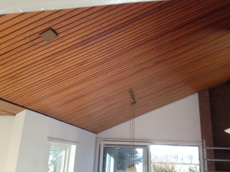 spuiten houten plafond - schildersbedrijf vos
